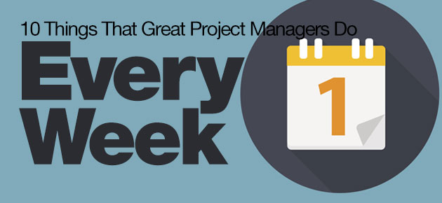 Photo of 10 Things That Great Project Managers Do Every Week